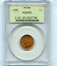 1895 1C Indian Cent PCGS MS65RD BEAUTIFUL!!