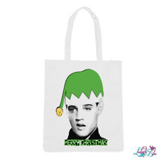 Elvish Presley Tote Bag   Xmas Shopping Bag   Elvis Presley   Stocking Filler