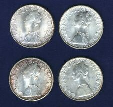 """ITALY 500 LIRE  """"COLUMBUS"""" SILVER COINS: 1964, 1965, 1966, & 1967, UNCIRCULATED"""