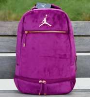 Nike Air Jordan Skyline Velour Velvet Backpack Bordeaux Purple Pink 9A0046-P3D