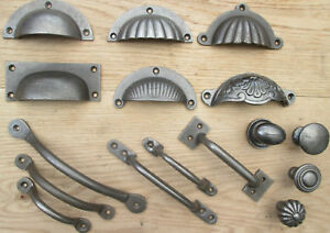CAST IRON RUSTIC CHEST DRAWER WARDROBE KITCHEN CUPBOARD CABINET HANDLES & KNOBS