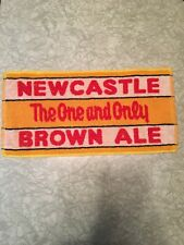 New Castle Brown Ale Bar Towel Terrycloth The One And Only Beer Gold Cotton