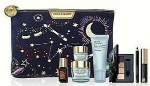ESTEE LAUDER GIFT SET COSMETIC BAG NIGHT REPAIR DAY WEAR CREME EYE MASCARA NEW