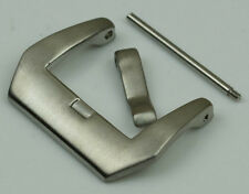 Watch strap buckle SCREW IN brushed steel 22mm clasp steel pre v PAM curved NEW