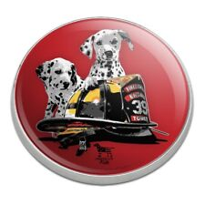 Dalmatian Dogs Firefighter Fire Helmet Golfing Premium Metal Golf Ball Marker