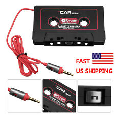Cassette to Aux Adapter Converter Cable Cord for iPhone Cellphone Mp3