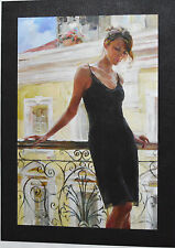 GARMASH AFTERNOON ON THE BALCONY GICLEE CANVAS HAND EMBELL. SIGNED #71/95 W/COA