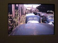 Vintage Photo Slide Old Junkyard Classic Cars Car Parts Wagon Wheels Junk Yard