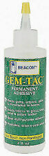 Gem-tac 118ml Medium Bottle Clear Permanent Glue for Bonds Rhinestones