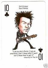 The Sex Pistols Sid Vicious  Rock n Roll Playing Card