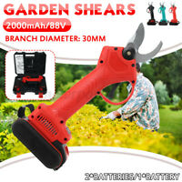 Electric Cordless Rechargeable Pruning Garden Shears Secateur Cutter 2xBatteries
