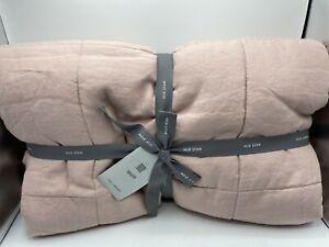 New West Elm European Belgian Flax Linen Full/Queen Quilt ~Adobe Rose~