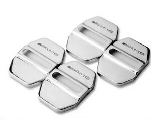 Mercedes Benz AMG Steel Door Lock Pin Covers for C43 C63 G63 CLA45 A45 C250 New