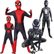Venom Spider-Man Cosplay Costume Kid Boy Mens Bodysuit Fancy Dress Outfits Party