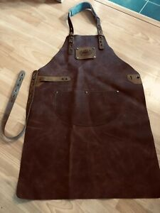 Real Leather Heavy Duty 'Master' Apron with Adjustable Straps and Pocket!