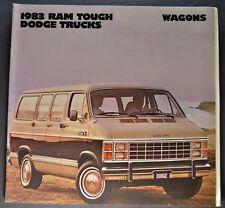1983 Dodge Ram Wagon Van Truck Catalog Sales Brochure Excellent Original 83