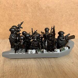 SWAT Militär Soldaten Schlauchboot Motorboot Boot Schiff für Lego