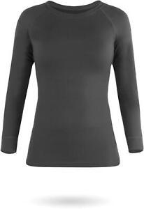 Damen Thermounterwäsche Langarm-Shirt Ski Unterhemd Longsleeve Thermoshirt-WARM