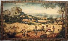 """BEAUTIFUL QUALITY 43"""" X 26"""" HAYMAKING BY J P BREUGHEL TAPESTRY WALL HANGING"""
