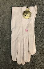 Vintage Cream Colored Ladies Deerskin Gloves Size 7 1/2 Attached Tag Shillito's