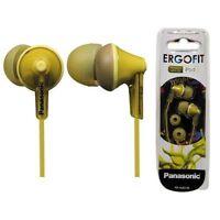 Panasonic Ergo-Fit In-Ear Earbud Style Headphones Earphones RP-HJE125 NEW