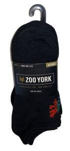 Zoo York Low Cut Socks 10 Pair Men 6-12 Black Red Blue Green Gray ZY Logo RideNY