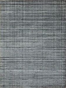 5'x 8' Rug | Handmade Hand Woven Wool & Viscose Violet Gray  Area Rug