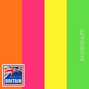 12 pack x Fluorescent Mixed Colours Blank Bookmarks - 210 x 62mm - 260gsm