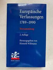 Buch Europäische Verfassungen 1789-1990
