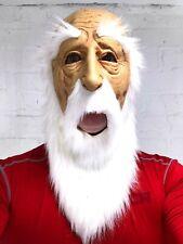 Old Man Mask Long White Beard Dance Killin It Latex Costume Accessory Adult