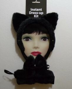 Cosplay Sexy Halloween Kitty Dress Up Adult Tail Tie Ears Set