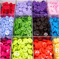 KE_ KQ_ 100Pc Round Candy Resin DIY 2 Holes Buttons Scrapbooking Sewing Access