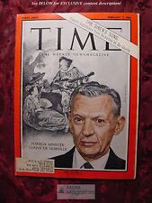 TIME magazine February 7 1964 2/7/64 COUVE DE MURVILLE FRANCE French Diplomacy