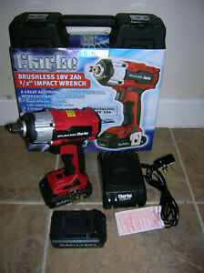 "Clarke Brushless, Lithium-Ion 18v 1/2"" Drive 2Ah Cordless Impact Wrench."