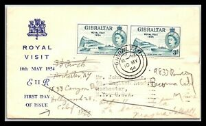 GP GOLDPATH: GIBRALTAR COVER 1954 FIRST DAY COVER _CV676_P03