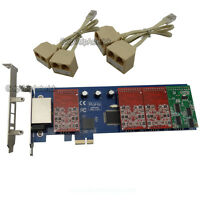 TDM800E 6FXO&2FXS Asterisk card Low profile PCI express card support elastix pbx