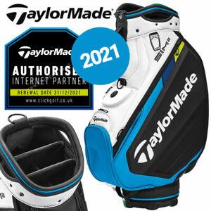 TaylorMade SIM2 Tour Golf Cart Bag 6-WAY Black/White/Blue - NEW! 2021