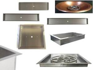 DIY Fire Table Stainless Steel Drop In Inserts/ Heavy Duty Pans by EasyFirePits