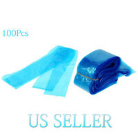 New 100Pcs Tattoo Machine Bags Clip Cord Sleeves Disposable Plastic Cover Bags