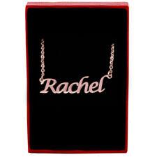 Rachel - Rose Gold Name Necklace - Personalized Jewellery - Pendants Birthday