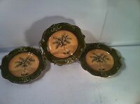 SAUVIGNON--WEST INDIES--SET OF 3---SALAD PLATES---PALM TREES---SHIPS FREE--EUC