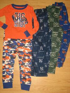 boys lot sleep pants pajama pjs sleepwear TCP 5-6 lounge NY Yankees Knicks Jets