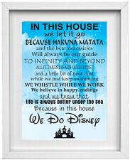 We Do Disney Picture Home House Rules Quotes Wall Art   FREE POST  (NP040)