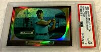 MICKEY MANTLE 1996 TOPPS FINEST REFRACTOR #5 1955 BOWMAN PSA 9 MINT RARE YANKEES