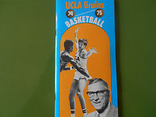 1974-75 UCLA BRUINS BASKETBALL MEDIA GUIDE Yearbook 1975 NCAA CHAMPS! Program AD