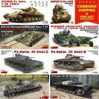WW II GERMAN TANKS MINIART 1/35 SCALE PLASTIC MODEL BUILDING MILITARY MINIATURES