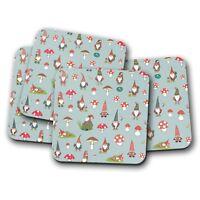 4 Set - Cute Garden Gnomes Coaster - Mushroom Funny Gardening Snail Gift #14595