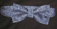 Lot of 8 Blue Paisley New Mens Bow Ties Great for Chorus Groups Bands Church