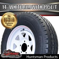 14 x 6 195 LT Sunraysia HQ Wheel Rim & Tyre White Caravan Trailer Boat 195R14