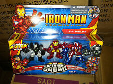 SUPER HERO SQUAD guerra Mech IRON MAN WAR MACHINE Detroit in acciaio pacco da 3 cifre